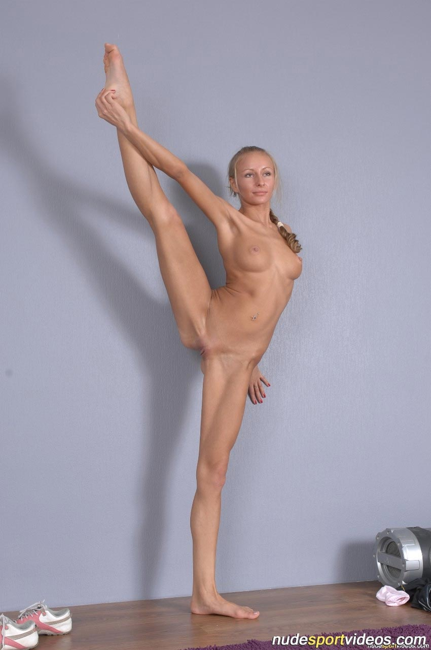 Dissatisfied wife Yoga topless erotic