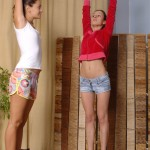 Nude lesbian yoga training