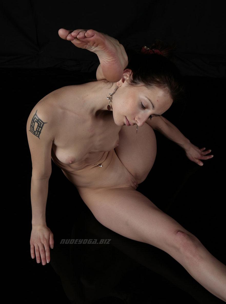 Naked yoga guru