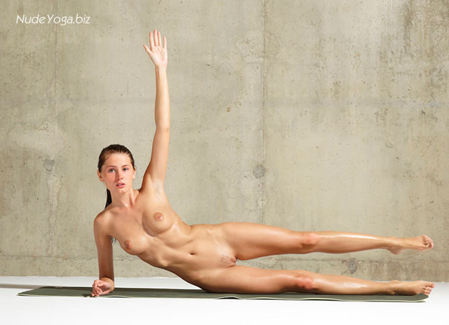 Naked yoga girl